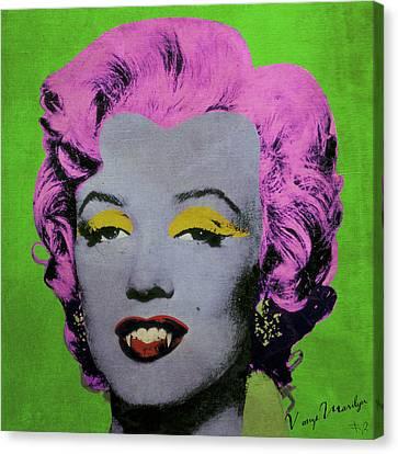 Vampire Marilyn Variant 2 Canvas Print by Filippo B