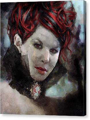 Vampiress Canvas Print by Christopher Lane