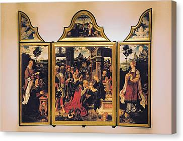 Van Cleve Joos, Triptych Canvas Print by Everett