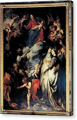 Van Dyck Anton O Antoon, Madonna Canvas Print by Everett