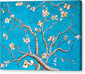 Van Gogh Almond Blossom Slightly Interpreted Canvas Print by Ion vincent DAnu