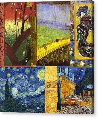 Van Gogh Collage Canvas Print by Philip Ralley