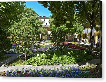 Canvas Print featuring the photograph Van Gogh - Courtyard In Arles by Allen Sheffield