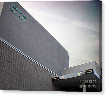 Canvas Print featuring the photograph Van Gogh Museum Exterior by Michael Edwards
