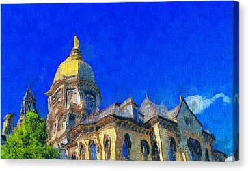 Van Gogh Notre Dame Canvas Print by Dan Sproul