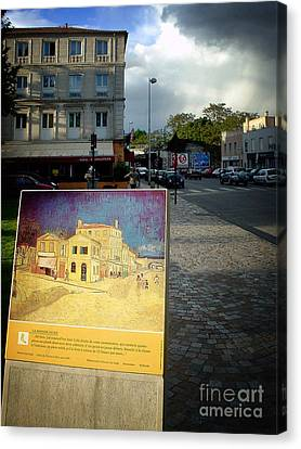 Canvas Print featuring the photograph Van Gogh Painting In Arles by Michael Edwards