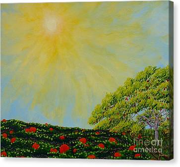 Van Gogh Pumpkins Canvas Print by Lori Ziemba