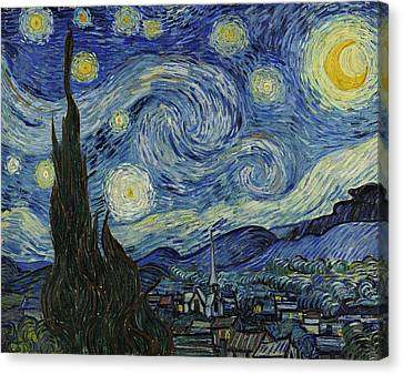 Van Gogh The Starry Night Canvas Print by Movie Poster Prints