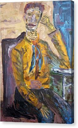 Van Gogh Thinks About Ear Canvas Print