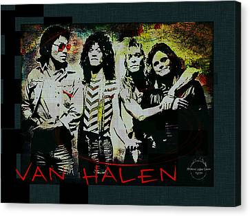 Van Halen - Ain't Talkin' 'bout Love Canvas Print by Absinthe Art By Michelle LeAnn Scott