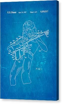 Van Halen Canvas Print - Van Halen Instrument Support Patent Art 1987 Blueprint by Ian Monk