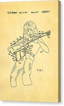 Van Halen Canvas Print - Van Halen Instrument Support Patent Art 1987 by Ian Monk