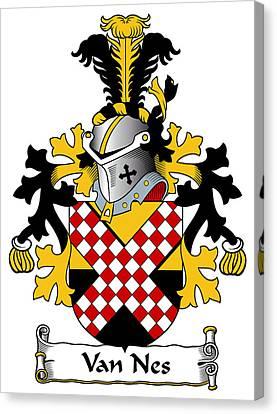 Van Nes Coat Of Arms Dutch Canvas Print