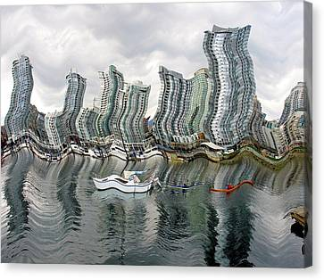 Canvas Print featuring the photograph Vancouver Abstracted by Gerry Bates