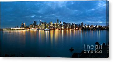 Vancouver At Dusk Canvas Print by Terry Elniski