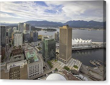 Vancouver Bc City With Stanley Park View Canvas Print by Jit Lim