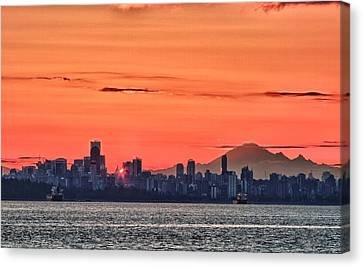 Vancouver Bc Morning Canvas Print by Scott Holmes