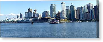 Vancouver Bc Skyline Panorama Canada. Canvas Print by Gino Rigucci