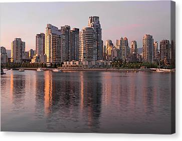 Canvas Print featuring the photograph Vancouver Bc Waterfront Condominiums by JPLDesigns