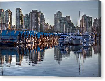 Vancouver Boat Reflections Canvas Print by Eti Reid