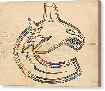 Vancouver Canucks Hockey Poster Canvas Print