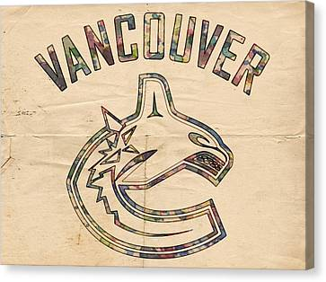 Vancouver Canucks Logo Art Canvas Print
