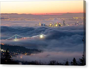 Vancouver Fog Canvas Print by Scott Holmes