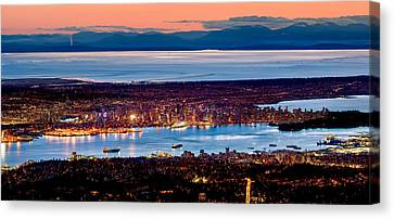 Straight Canvas Print - Vancouver From Above by Alexis Birkill