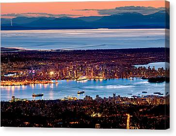 Vancouver From Above Crop Canvas Print by Alexis Birkill