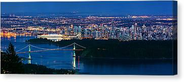 Vancouver From Cypress Mountain Canvas Print by Alexis Birkill