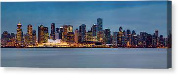 North Vancouver Canvas Print - Vancouver From Lonsdale Quay by Alexis Birkill