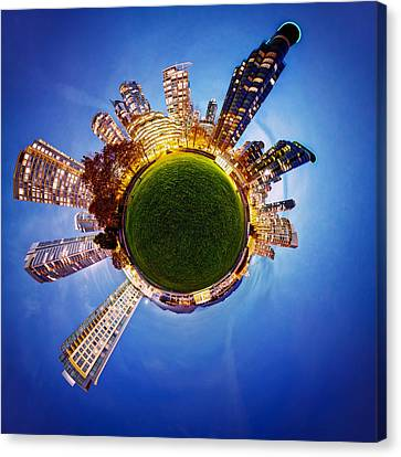 Vancouver Little Planet Canvas Print by Alexis Birkill