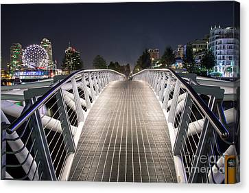 Vancouver Olympic Village Canoe Bridge - By Sabine Edrissi  Canvas Print by Sabine Edrissi