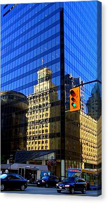 Vancouver Reflections 3 Canvas Print by Randall Weidner