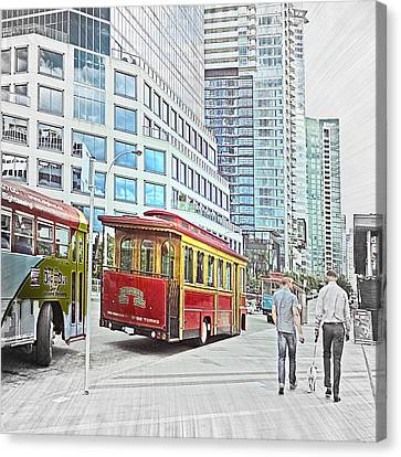 Vancouver Sightseeing Canvas Print by Carol Cottrell