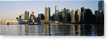 Vancouver Skyline At Dusk, British Canvas Print by Panoramic Images