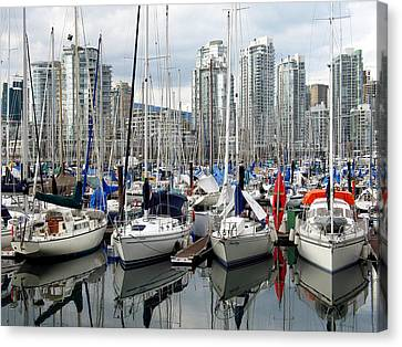 Canvas Print featuring the photograph Vancouver Skyline by Gerry Bates
