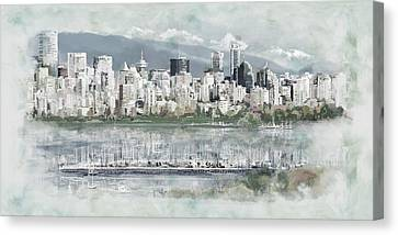 Vancouver Skyline Canvas Print by Maryam Mughal