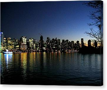 Canvas Print featuring the photograph Vancouver Skyline by Will Borden