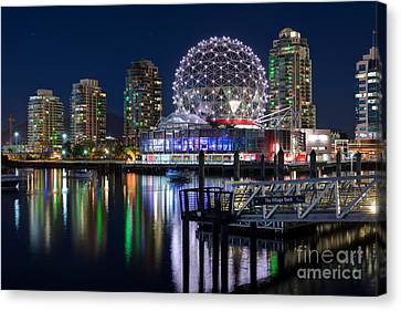 Vancouver Telus World Of Science - By Sabine Edrissi Canvas Print by Sabine Edrissi