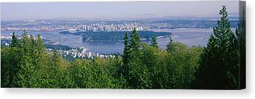 Vancouver Viewed From From A Far Canvas Print by Panoramic Images