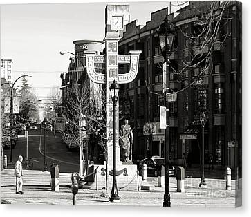 Canvas Print featuring the photograph Vancouver's Chinatown by Cendrine Marrouat