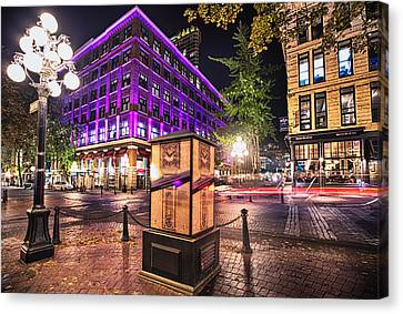 Vancouver's Iconic Steam Clock Gone For Maintenance Canvas Print by Eti Reid