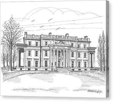 Historic Site Canvas Print - Vanderbilt Mansion by Richard Wambach