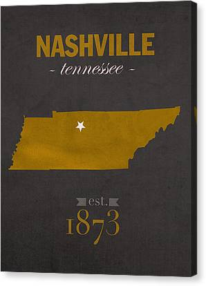 Vanderbilt University Commodores Nashville Tennessee College Town State Map Poster Series No 118 Canvas Print by Design Turnpike