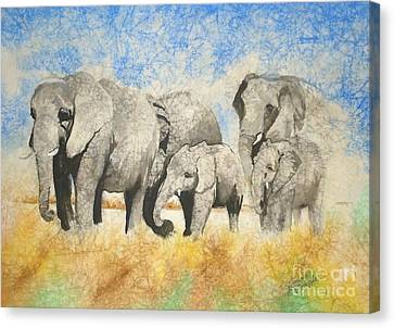 Vanishing Thunder Series - The Family  Canvas Print by Suzanne Schaefer