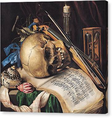 Hourglass Canvas Print - Vanitas by Simon Renard de Saint Andre