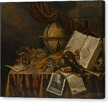 Vanitas Still Life Canvas Print by Edwaert Collier