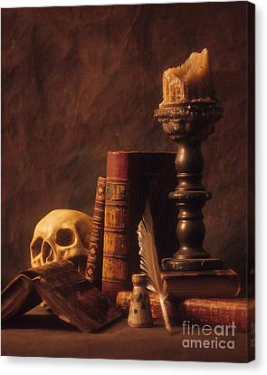 Canvas Print featuring the photograph Vanitas Still Life by ELDavis Photography
