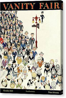 Vanity Fair Cover Featuring A Crowd Canvas Print by Jr., John Held